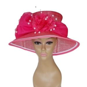 Accessories - Gorgeous hot pink dress hat